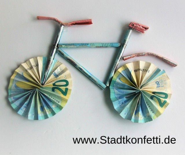 DIY GELDGESCHENK FAHRRAD | Geldgeschenk fahrrad basteln
