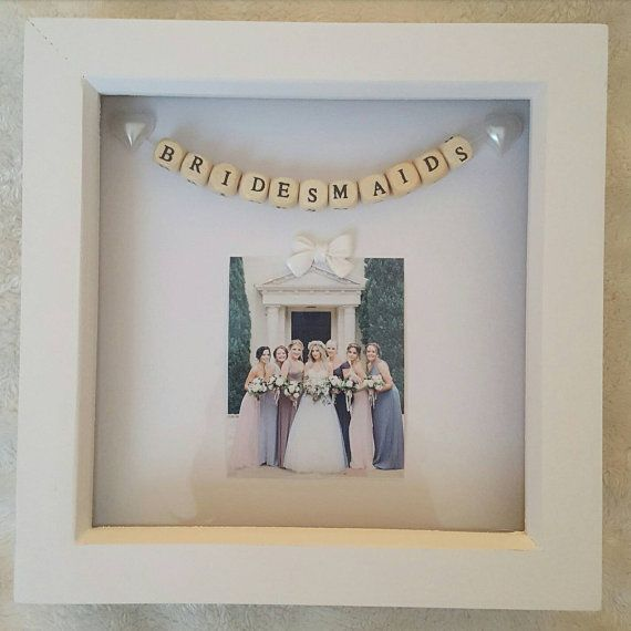 Wedding Box Frame Bridesmaids by PreciousPicsCo on Etsy