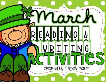 March Reading and Writing Activities #weheart4K