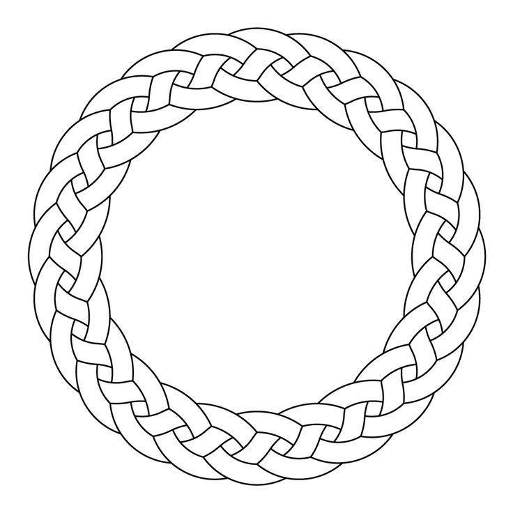 Celtic knot-work circle garland by Peter Mulkers