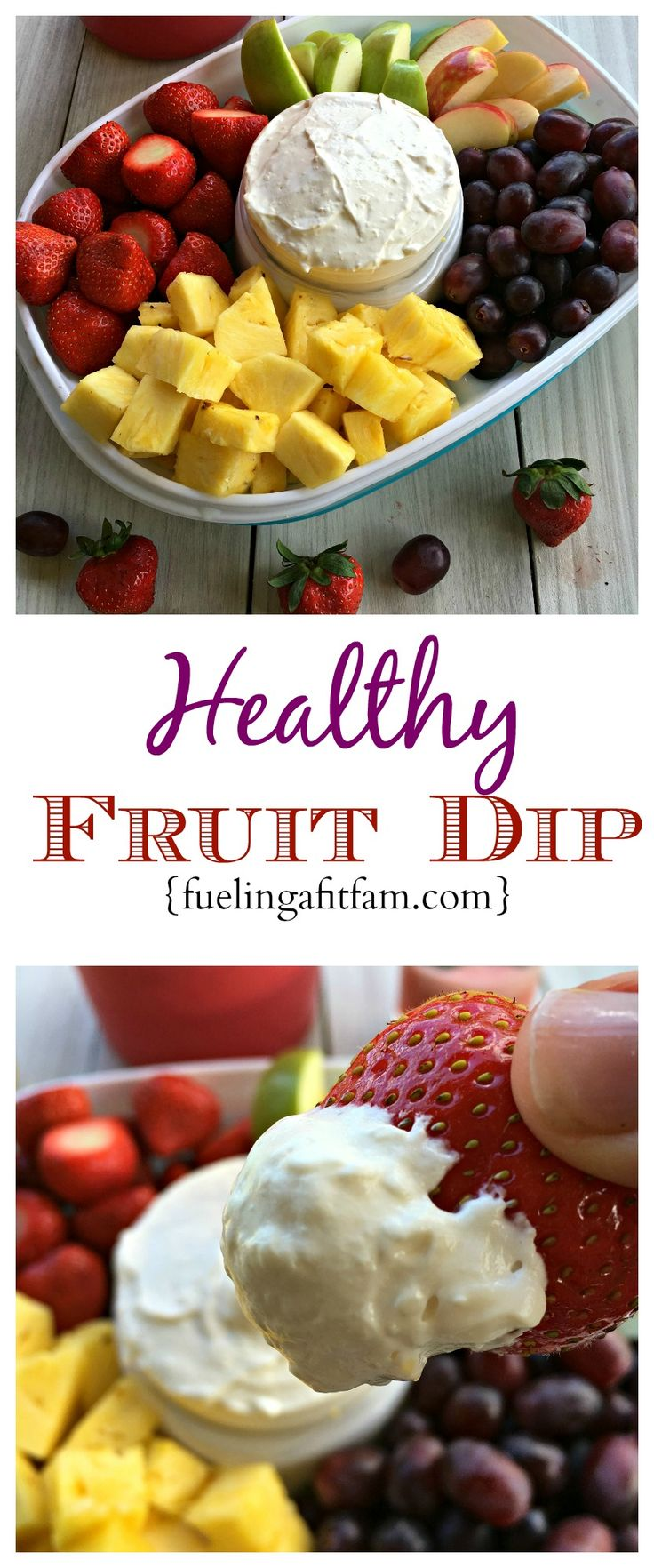 This Healthy Fruit dip is super easy and is the perfect addition to your summer fun! #ColorYourSummer #ad