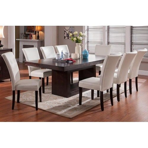 9 Piece Dining Room Table Sets: Steve Silver Antonio 9 Piece Dining Set With Berkley Parsons Chairs