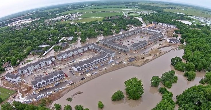 In Texas's exurban counties, a population and building boom has outpaced efforts to cut flash-flood risks and dominates any impact so far from climate change.