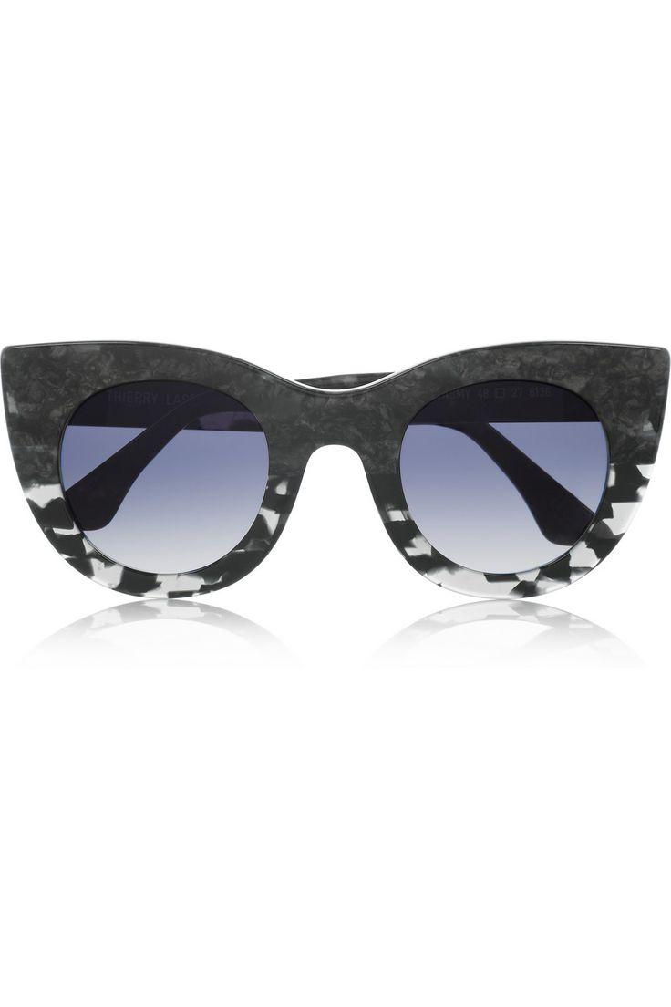 Thierry Lasry|Cat eye marble-effect acetate sunglasses|NET-A-PORTER.COM