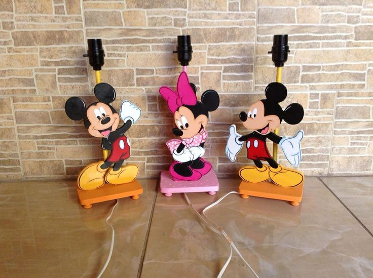 Mickey minnie country lamp idea