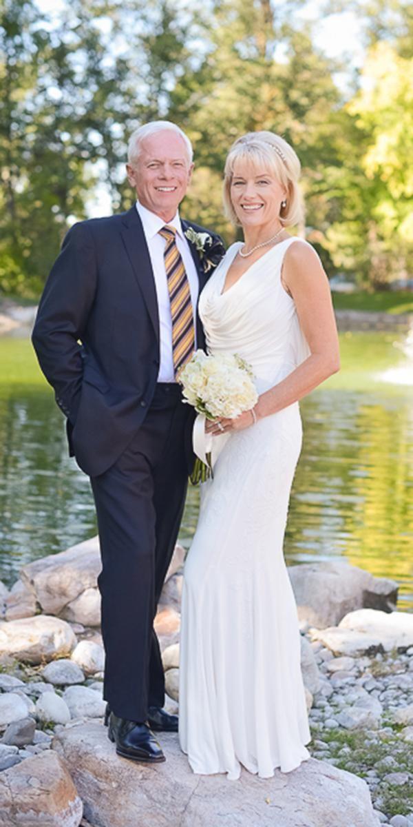 15 Second Wedding Dress Ideas You Ll Like Wedding Forward In 2020 Older Bride Older Bride Dresses Wedding Dress Over 40