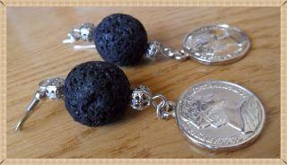 Silvia Jewellery of Style: Orecchini lava vulcanica