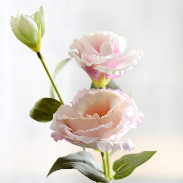 10 шт./лот Европейский Искусственный Цветок 3 Голов Поддельные Gradiflorus Лизиантус Эустома Свадьбы Рождество Дома Декоративные