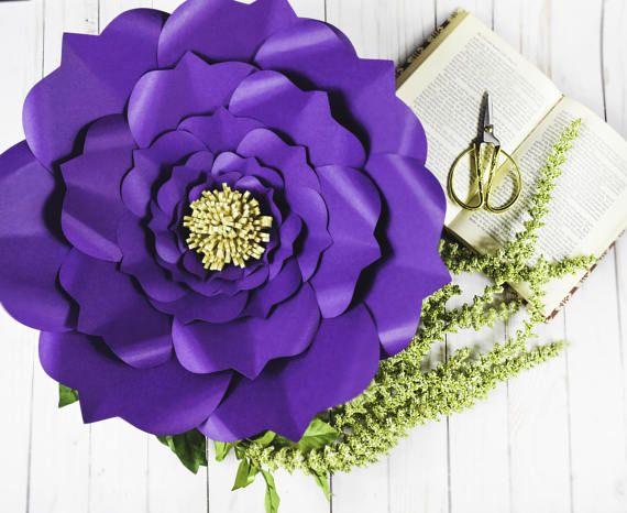 DIY reus papier bloem afdrukbare sjablonen Flower sjabloon