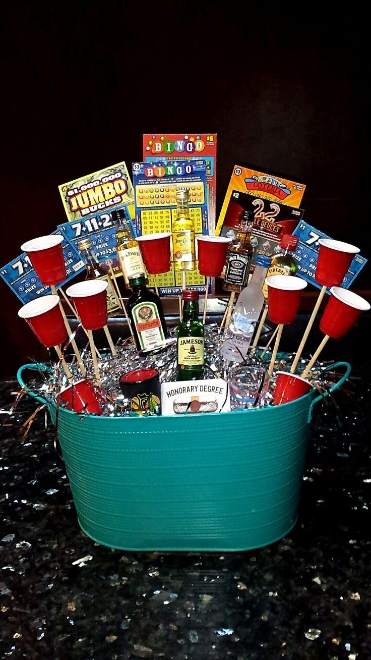 Awesome Birthday Gift Baskets : Unique boyfriends st birthday ideas on