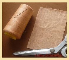 Для работы потребуется: кусочек растяжимой ткани 10/ 15 см, ножницы, катушка ниток в цвет, иголочка средней длины и наполнитель (холофайбер).