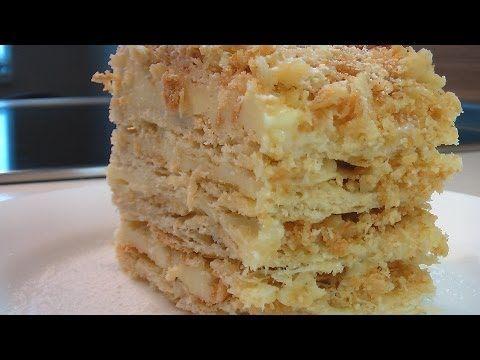 Слоеное пирожное с кремом видео рецепт.Книга о вкусной и здоровой пище