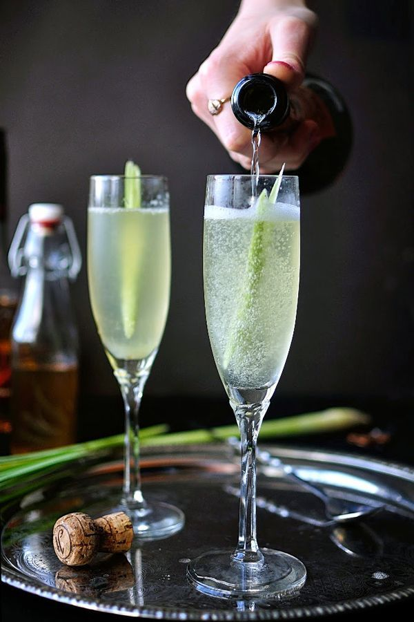 All The Champagne Cocktails You'll Ever Need #refinery29 http://www.refinery29.uk/champagne-cocktails-recipes#slide-9 Boreal RidgeThis pretty cocktail uses lemongrass syrup and vanilla for a drink that smells as nice as it tastes....