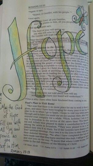 Romans 15:13.......................Bible journaling