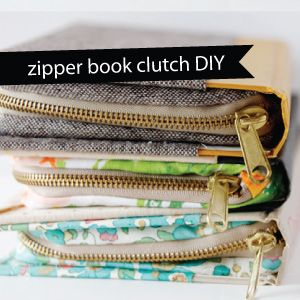 buy + diy: zipper book clutch tutorial! - see kate sew