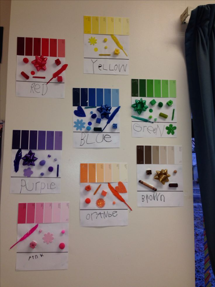 Great way to display colour wall!