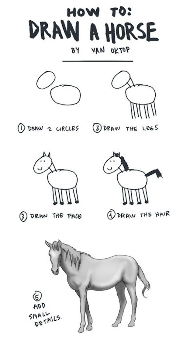Just a LITTLE details... Horse drawings for beginners! It works!