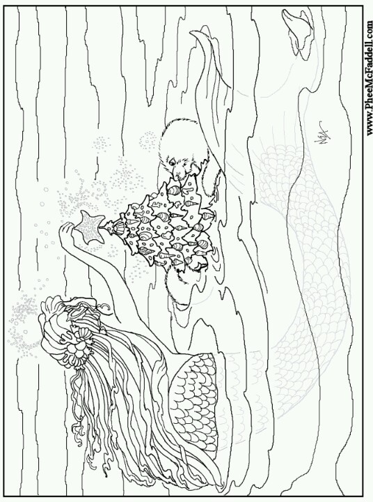 Phee mcfaddell artist so pretty pfee mcfaddell artist for Winter solstice coloring pages