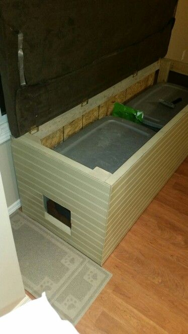 Bench Litter Box Enclosure Cool Cat Stuff Pinterest Cats Blog And Boxes