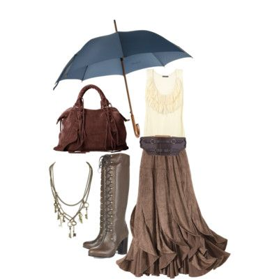 Loving this everyday steampunk summer  look, especially the jewelry and lace-up boots. :)