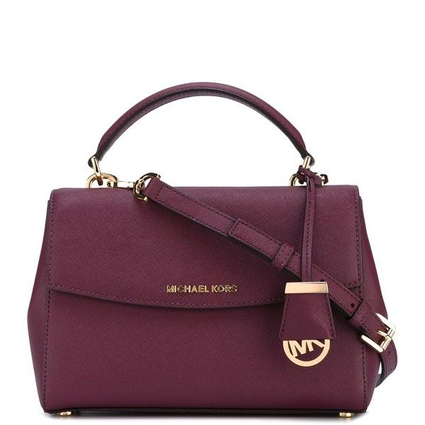 Michael Michael Kors Ava Small Bag ($260) ❤ liked on Polyvore featuring bags, handbags, tote bags, violet, handbags totes, tote bag purse, purple tote, tote handbags and purple tote bags