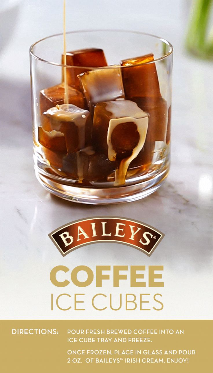 If you love iced coffee, this quick and easy coffee ice cubes recipe is a must try this summer. Pour Baileys over your cubes to add the perfect hint of sweetness and you'll be sipping on your delicious drink in just 2 steps!