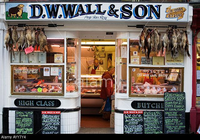 D. W. Wall & Son butchers in Ludlow - a tiny shop with a huge reputation; this week they were selling White Park beef, among other Real Food delights.