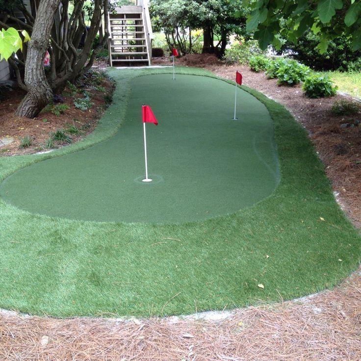 Putting green in backyard.   Backyard putting green, Small ... on Small Backyard Putting Green id=97738