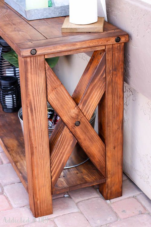 DIY Rustic Outdoor Console Table – Great Outdoors Challenge!