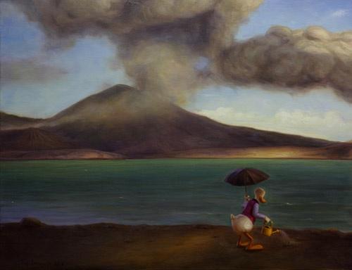 Mutta aluksi ne hyvät uutiset - But First The Good News, 2012 by Kaj Stenvall Öljy kankaalle - oil on canvas, 70 x 90 cm.