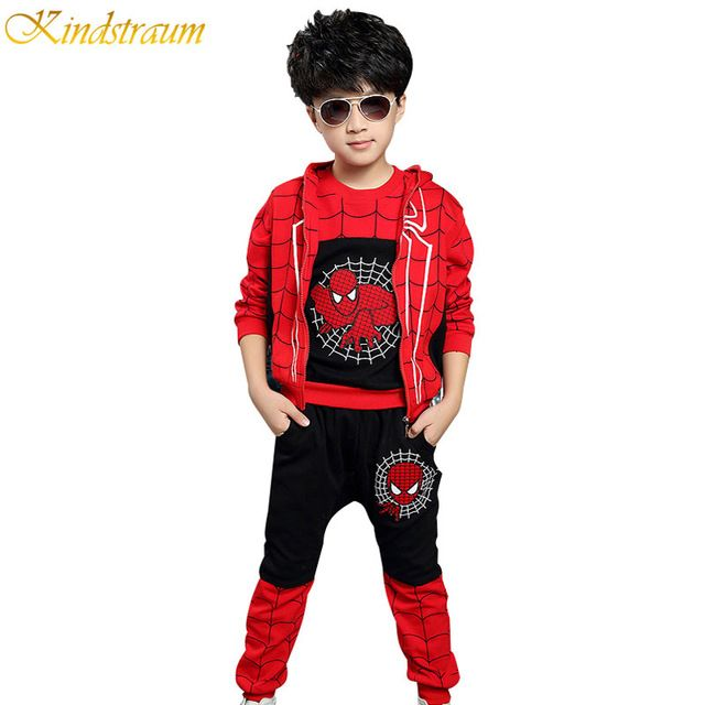 Check lastest price 2017 Hot Sale Children Tracksuits Spiderman Autumn  Boys Sports Suits 3 Pieces Vest + T Shirt + Pants Kids Clothing Sets, HC559 just only $22.09 - 25.37 with free shipping worldwide  #boysclothing Plese click on picture to see our special price for you