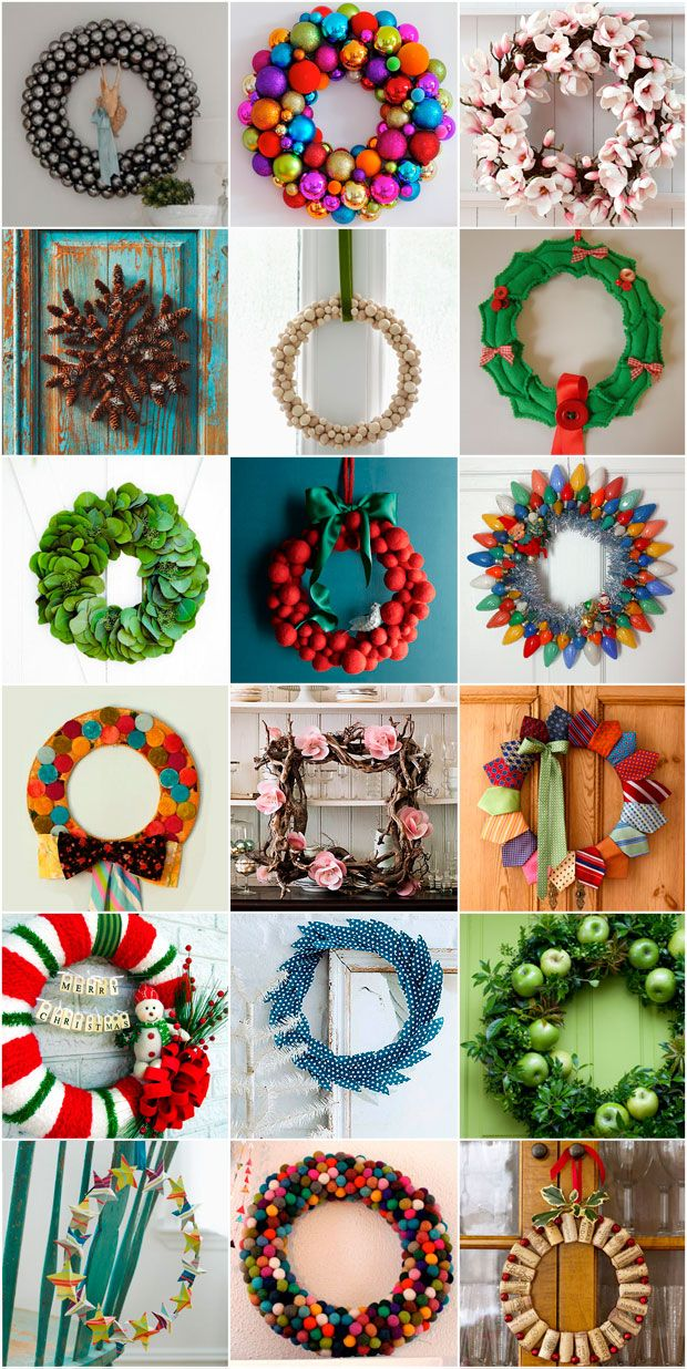 lots and lots of christmas wreaths