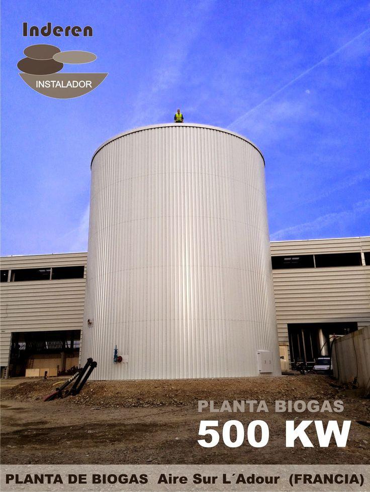 INDEREN RENOVABLES: 500 KW en Aire sur L´adour (FRANCIA) Planta de BIOGAS