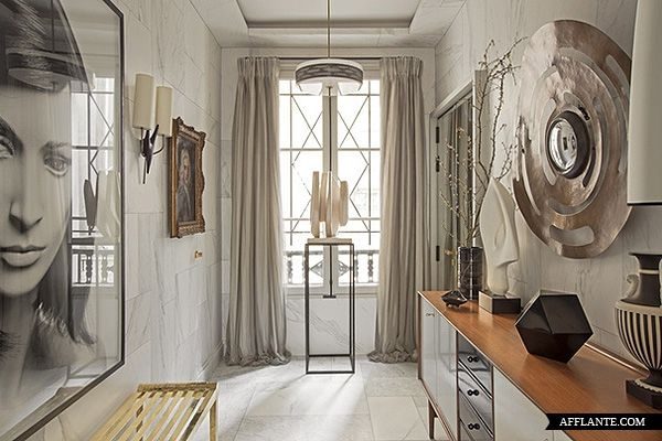 This space says 21 century to me. What space speaks to you? Parisian Apartment of Decorator Jean-Louis Deniot