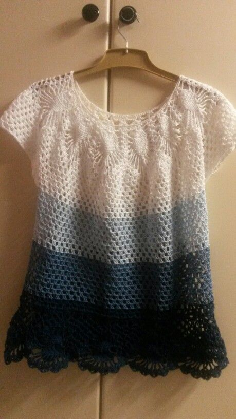 First crochet top