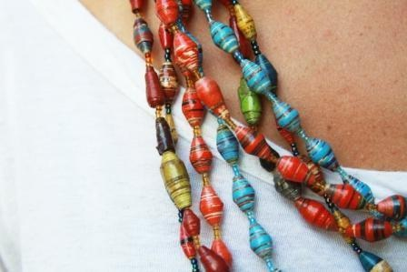 Amazima necklace, hand-rolled by women in Uganda & supports Amazima ministries!  have them and love them!: Handmade Beads, Beautiful Necklaces, Handcrafted Jewelry, Hands Hath, Paper Beads, Amazima Ministry, Bead Necklaces, Handmade Necklaces, Ugandan Woman