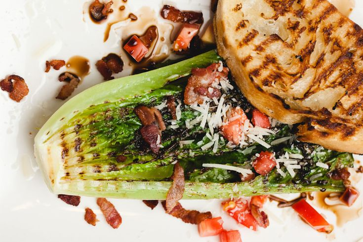 Grilled Hearts of Romaine | SAM THE COOKING GUY (Evo Fan) | Pinterest