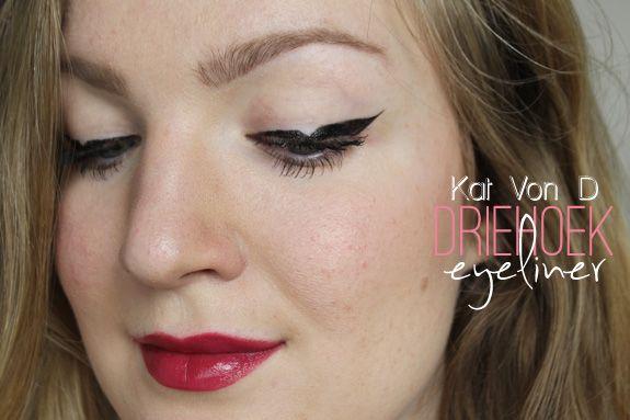 Eyeliner met driehoek (Kat Von D inspired)
