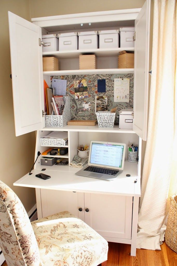 Ikea Hemnes Secretary Desk With Add On Hutch Creative Bloggers In  Pinterest Home Office Secretary Desks And Home Office Space