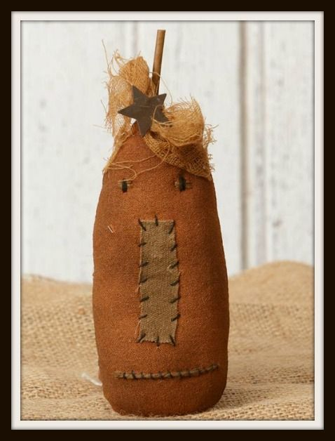 Cute New Primitive Jack-O-Lantern. These make great bowl fillers each one measures 7 tall by 3 across.