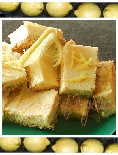 Low Fat Lemon Bars - Perfect For Holidays, Picnics, Summer, Christmas ...