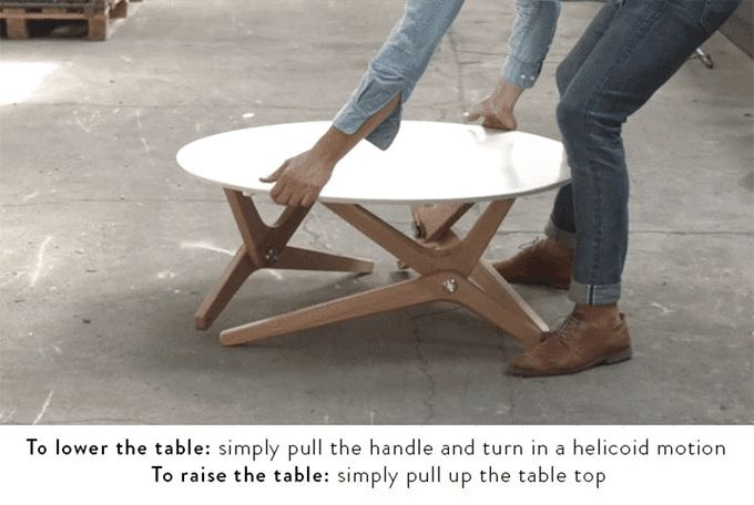 Boulon Blanc Table