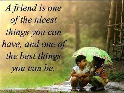 So true! I try to be a good friend, and I'm lucky to have some of the best :-D
