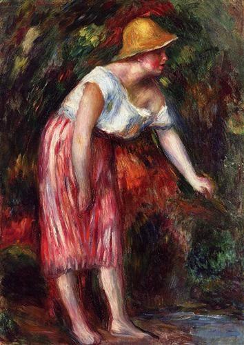 Woman in a Straw Hat - Pierre-Auguste Renoir