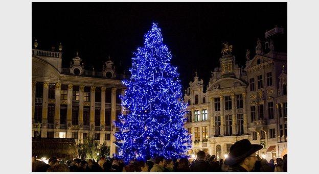 Un sapin différent cette année sur la Grand-Place de Bruxelles -  Brussels, Belgium