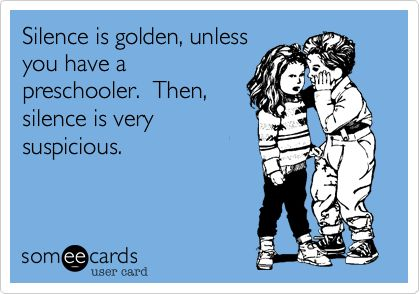 True.: Absolute, Preschool Humor, Preschool Teacher Humor Funny, The Silence, 2 Year Olds, So True, Toddler Teacher Funny, Funny Babies, True Stories