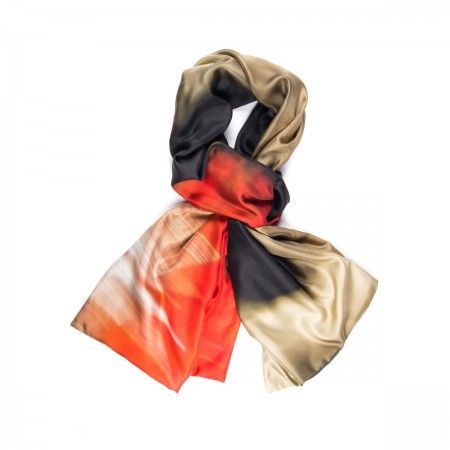 Lacrom Store || am abstract, foulard, silk  Twil silk scarf lined with jersey. Photograpgic print. AM Abstract is the reproduction of photographic abstract images, based on the technique of motion. Produced entirely in Italy.