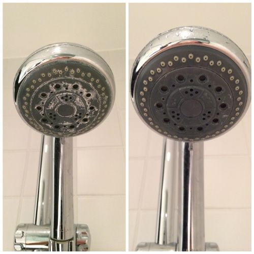 limpiar la cal de la ducha con vinagre