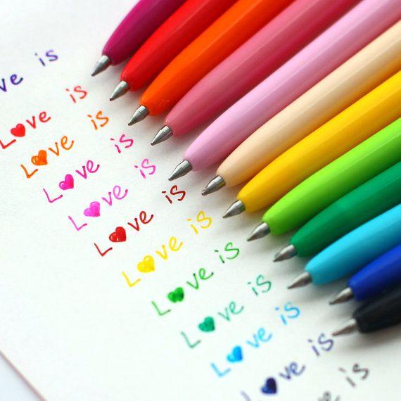 12Pcs de crayons aquarelle Pack / gel stylo encre par mycraft2014