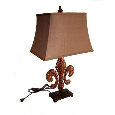 Cheungs Rattan Lamps 28.75 Tall Table Lamp With Shade In Antique Bronze    FP 2505